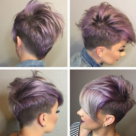 Short Hairstyle Shaved Underneath of 8 by Nancy