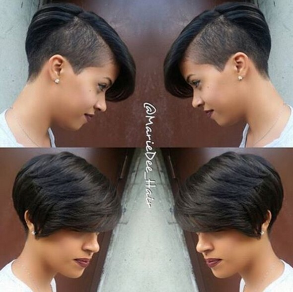Short Hairstyle Shaved Underneath of 11 by Nancy