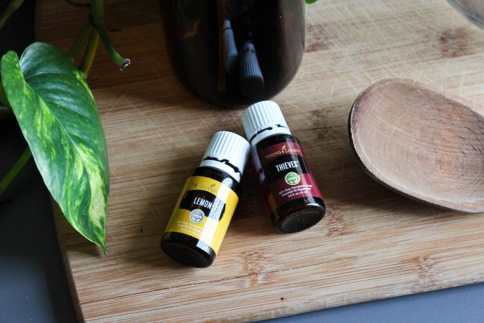 DIY All-Purpose Natural Household Cleaner with Lemon and Thieves Essential Oils from Young Living