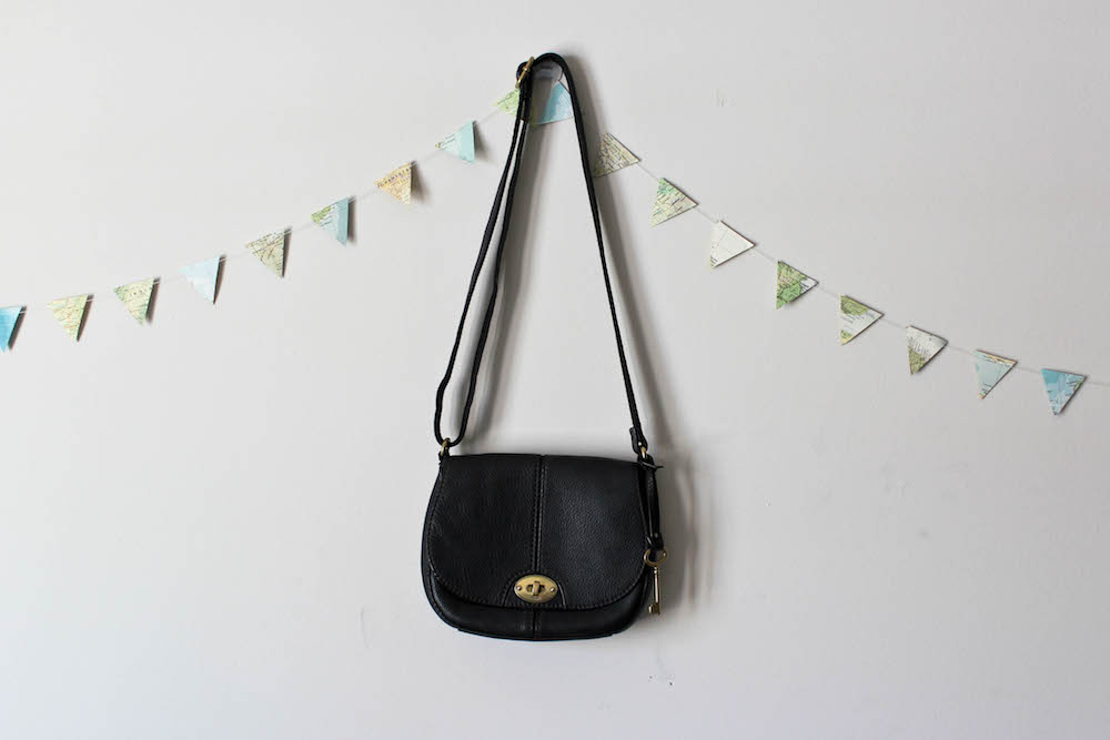 Fossil Carson Crossbody Bag in a capsule wardrobe for Project 333
