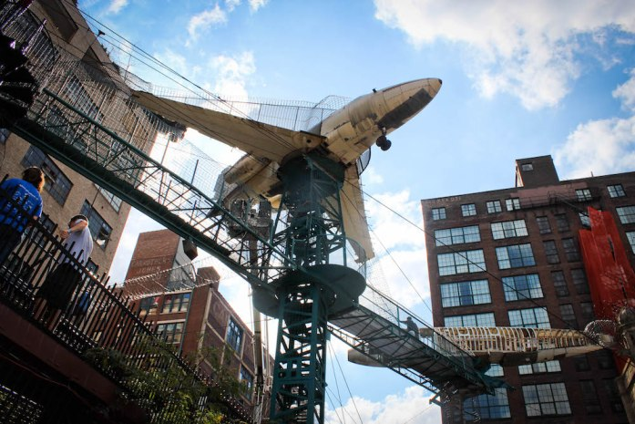 Old Plane as part of the outdoor playground at the City Museum in St Louis