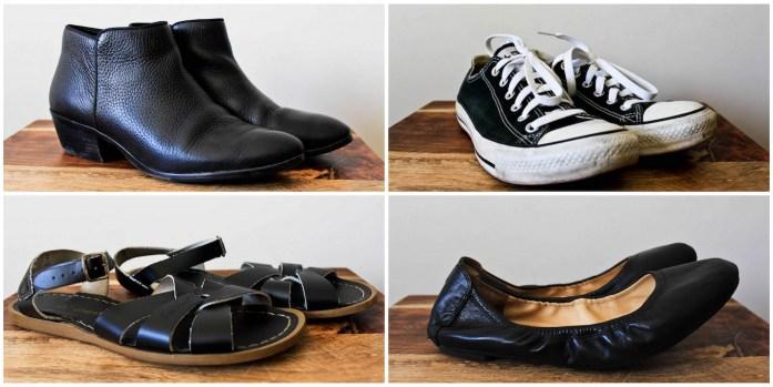 Travel Capsule Wardrobe Shoes
