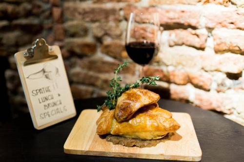 Confit Duck Puff with addition Supplement of Foie Gras