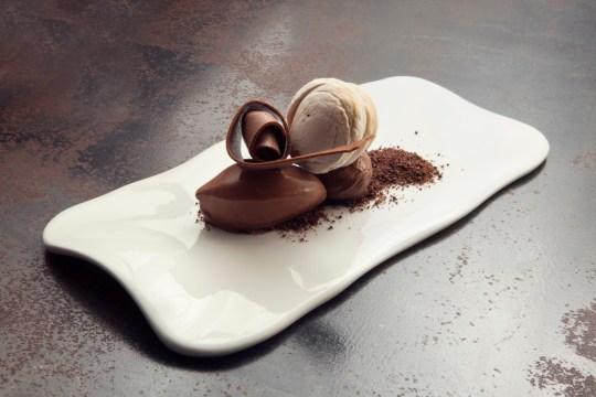 Textures of chocolate and kaya
