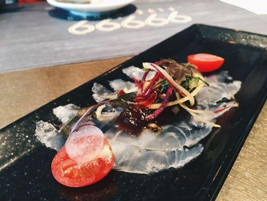 Seabass Carpaccio & Truffle Salsa ($16)