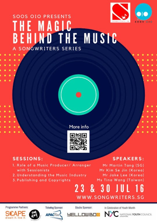 The Magic Behind The Music: An Atypical Songwriting Workshop In SG This July