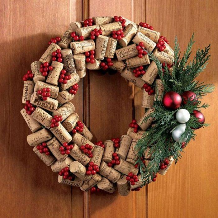 como hacer coronas de navidad