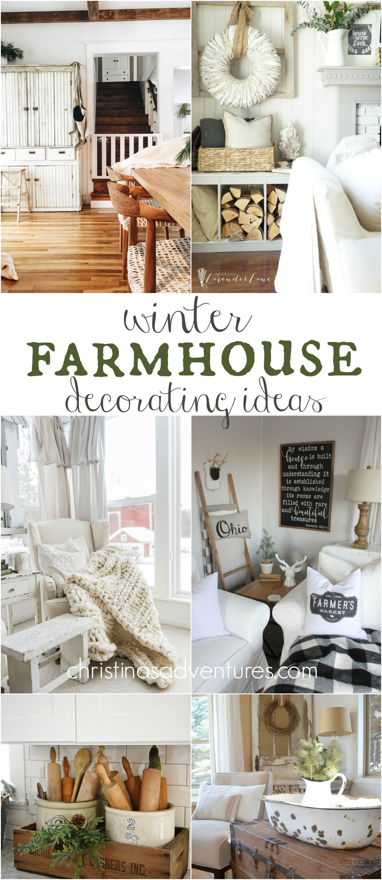 Salient Some Decor To Add To Your House This Checkout My Secret Sources To Find Farmhouse Wreaths Lanterns Winter Farmhouse Decorating Ideas Christinas Adventures If Looking home decor Farmhouse Home Decor