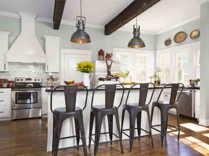 Copy this farmhouse kitchen style with a full list of items that look just like those featured on HGTV's Fixer Upper!