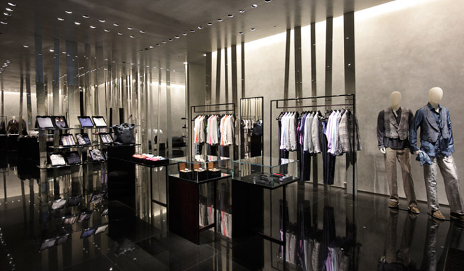 Armani flagship store opens in tokyo por homme for Interieur yeezy