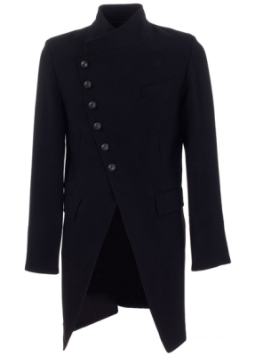 Ann Demeulemeester Asymmetrical Wool Coat