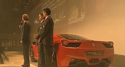 Ferrari 458 Italia World Premiere in Maranello [Video]