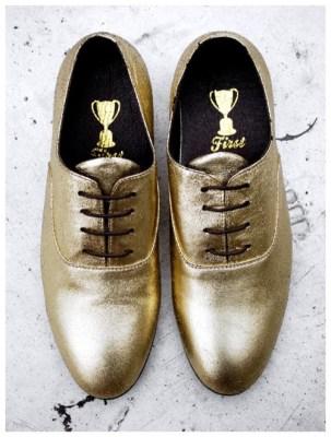 Jeffrey Campbell Barker Shoe [Gold]