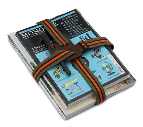 Monocle x B YOSHIDA Magazine Strap by Porter