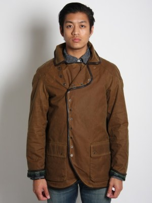 Evisu Waxed Submariner Overcoat