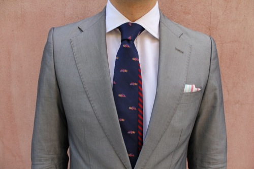 Fine and Dandy Shop | Red & Blue Double Blade Tie