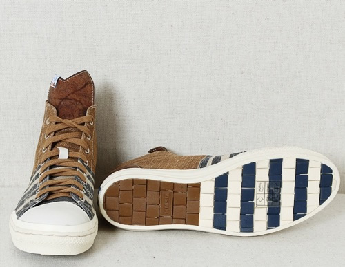 visvim Lauda Stripe-Folk High Top Sneaker
