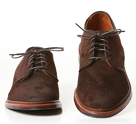 Alden for Blackbird Summer Oxford in Reverse Tobacco Chamois