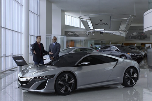 Acura NSX Superbowl Ad with Jerry Seinfeld and Jay Leno