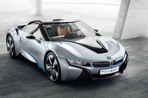 BMW i8 Spyder Concept Car - Hybrid Electric