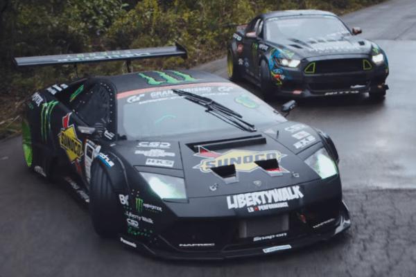 Lamborghini v. Mustang Drifting Battle-01