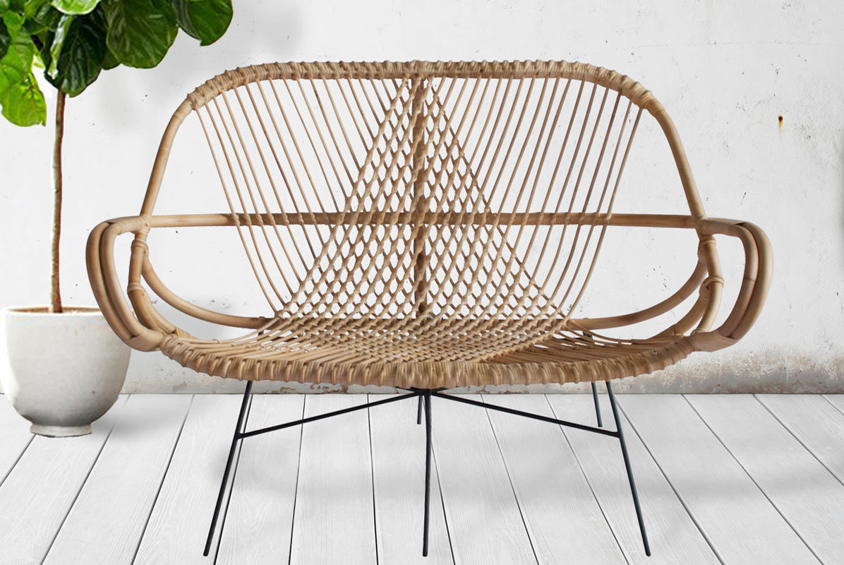 WEND Studio Crafts Modern Rattan Chairs