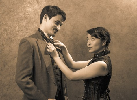 Brother/Sister: Anders (Sean Schroeder) and Wilhemina Yao (Stephanie Kim-Bryan)