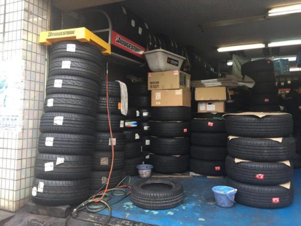タイヤの預かりサービス