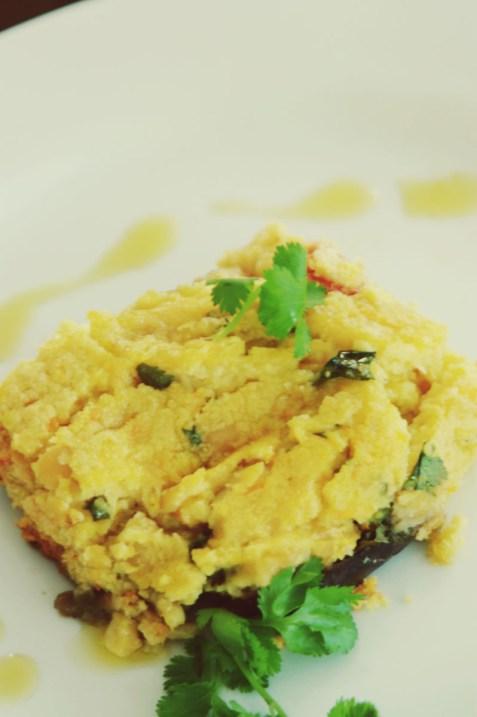 Escondidinho vegetariano de grão-de-bico germinado