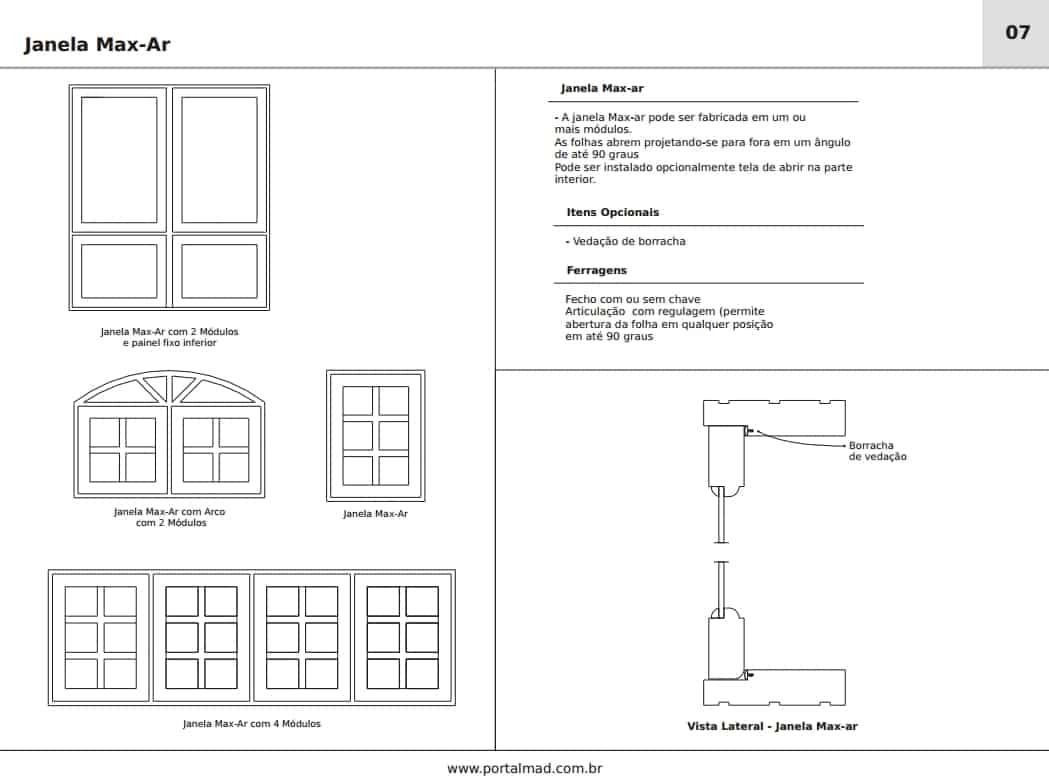 #584E4B Janela Maxim Ar Portalmad Portas e Janelas 1202 Portas E Janelas De Madeira Em Uniao Da Vitoria