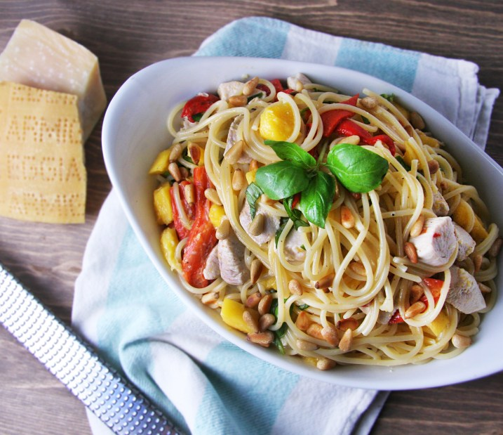 Mango Chicken Spaghetti 3