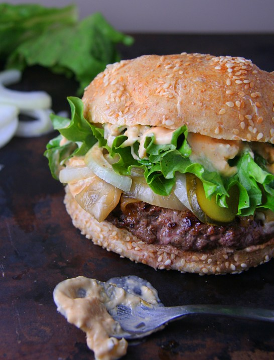 Classic Beef Burgers with Smashing Sauce 2