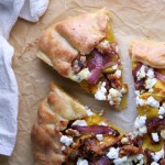 Butternut Squash Galette with Goat Cheese, Caramelized Red Onions & Walnuts