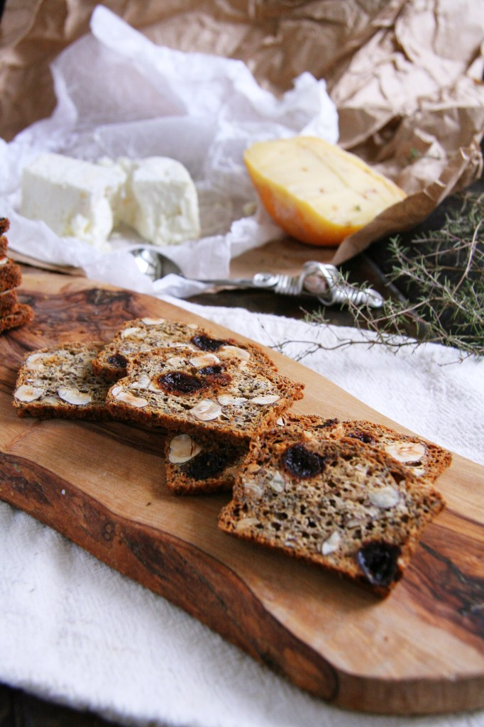 Cherry Hazelnut Crackers with Black Pepper & Thyme