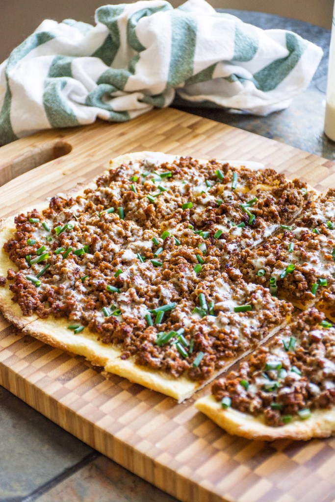 Beef & Blue Cheese Pizza