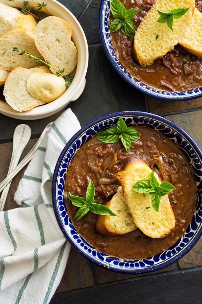 Slow-Roasted Tomato & Caramelized Onion Soup