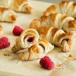 3-Ingredient Raspberry Chocolate Croissants