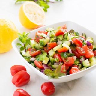 Green Salad with Roasted Rhubarb, Goat Cheese & Tarragon