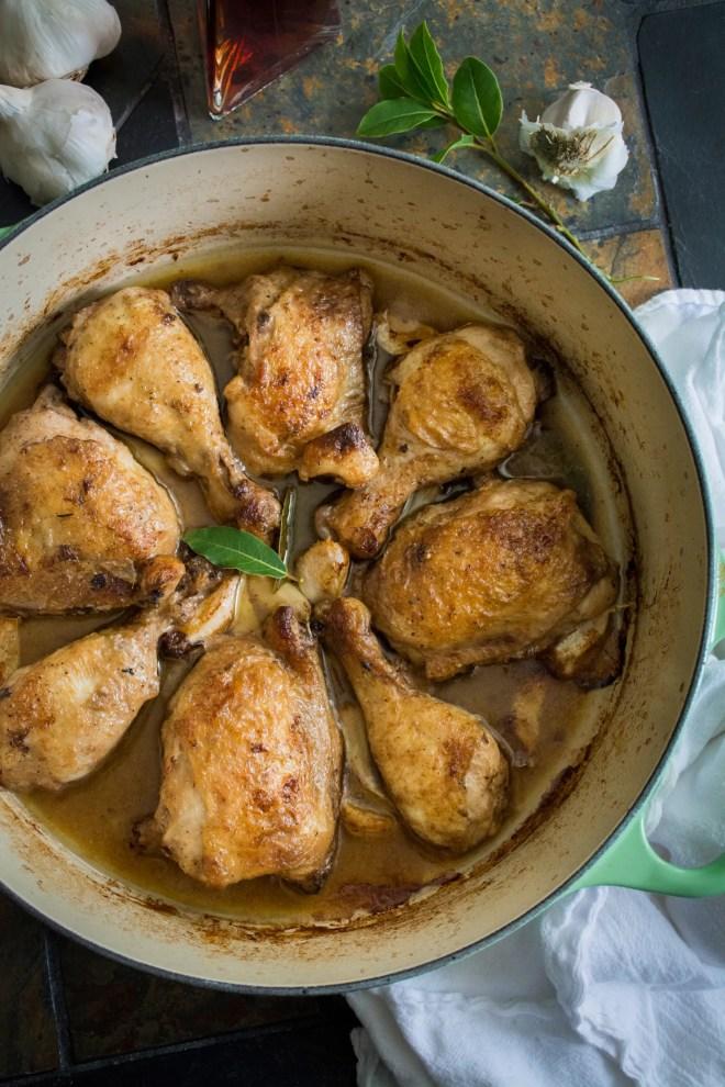 Lyonnaise Garlic Vinegar OMG Chicken