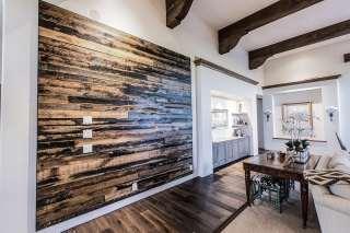 Reclaimed Wood Floating Wood Wall