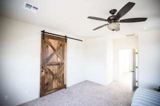 Reclaimed Wood Double-X Brace Sliding Barn Door