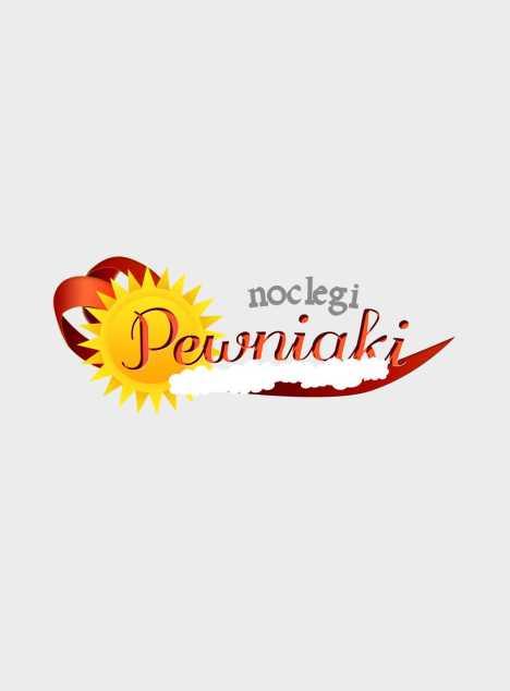 "Logo dla serwisu noclegowego ""Noclegi-Pewniaki"""