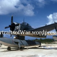 WWII Pacific Theater of War in Color: Curtiss SC Seahawk Scout seaplane in Vibrant Color!  1944