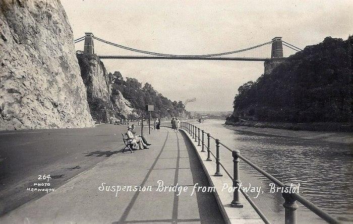 Suspension Bridge BW