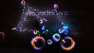 illuminated bike