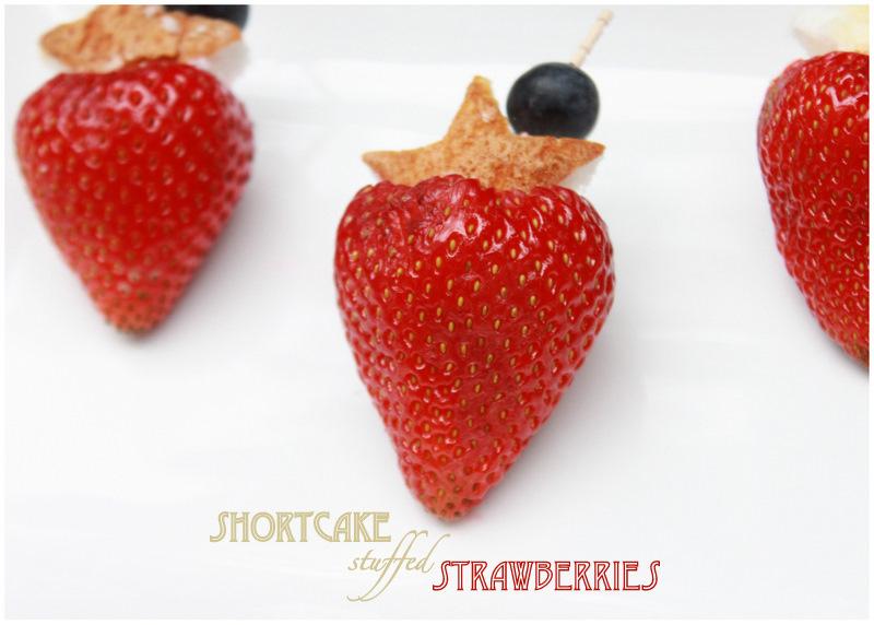 Shortcake stuffed Strawberries - Posh Little Designs