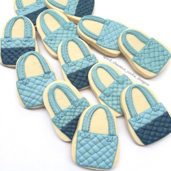 Purse Sugar Cookies | OCD Obsessive Cookie Designer x Posh Little Designs