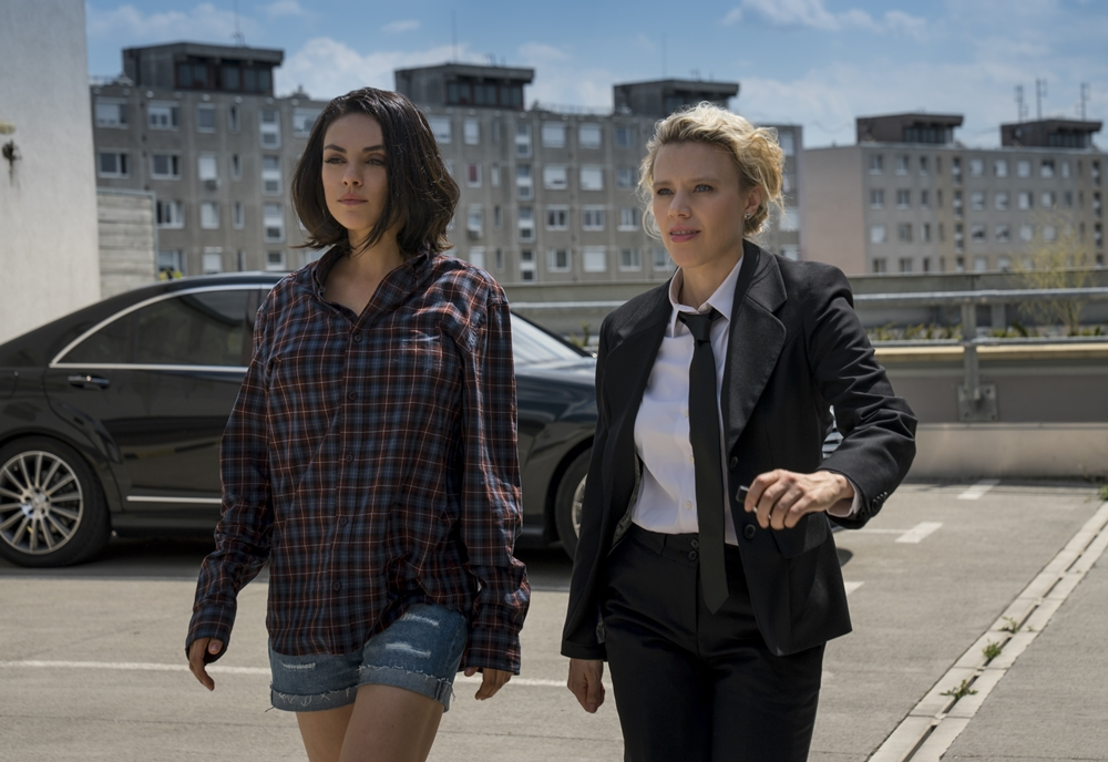 Audrey (Mila Kunis, left) and Morgan (Kate McKinnon, right) in THE SPY WHO DUMPED ME.  Photo Credit: Hopper Stone
