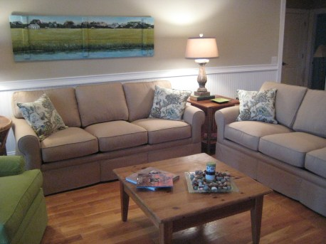 """Our Timeless Sofa Frame at 36"""" deep offers comfortable seating without crowding the room,"""