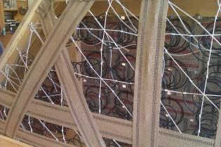8-way handtied springs held in place by webbing